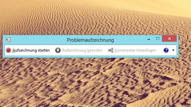 Windows 7/8: Screenshots in Masse per Problemaufzeichnung erstellen ©COMPUTER BILD
