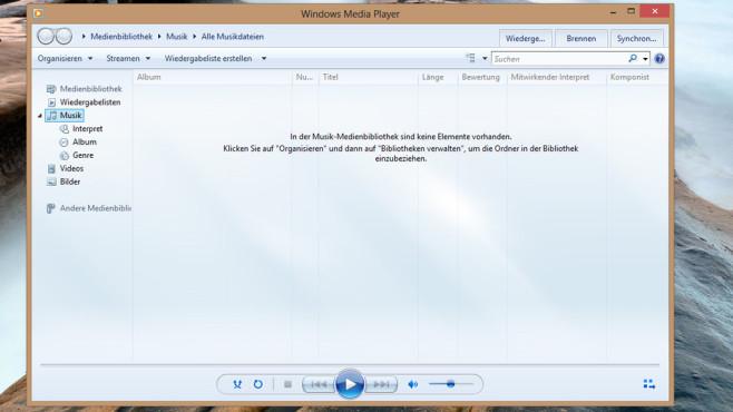 Windows 7/8: Windows Media Player mit weiteren Codecs ©COMPUTER BILD