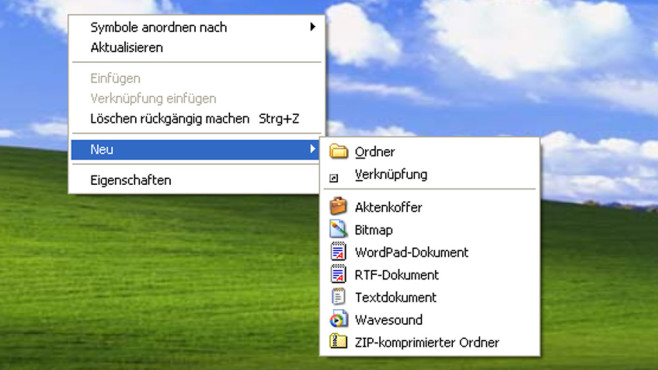 Windows XP: Langwieriges Anlegen von Ordnern © COMPUTER BILD