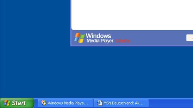 Windows XP: Starre Taskleisten-Symbole ©COMPUTER BILD
