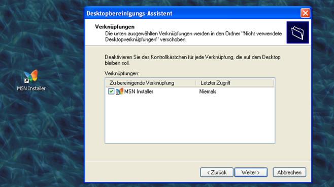 Windows XP: System räumt eigenmächtig auf ©COMPUTER BILD