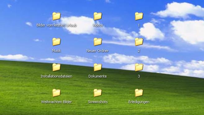 Windows XP: Zeitaufwendiges Sortieren von Dateien ©COMPUTER BILD