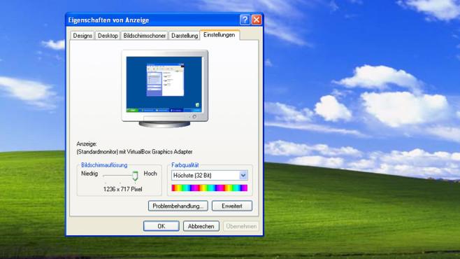 Windows XP: Ändern der Auflösung nicht selbsterklärend ©COMPUTER BILD