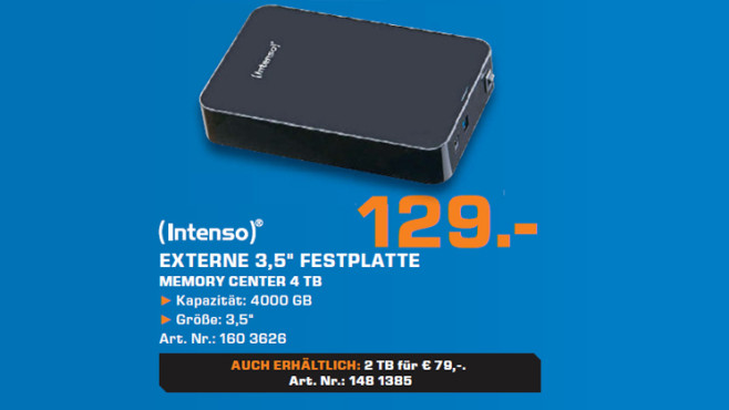 Intenso Memory Center 4TB © Saturn