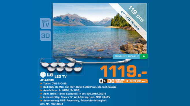 LG LED-TV 47LA8609 © Saturn