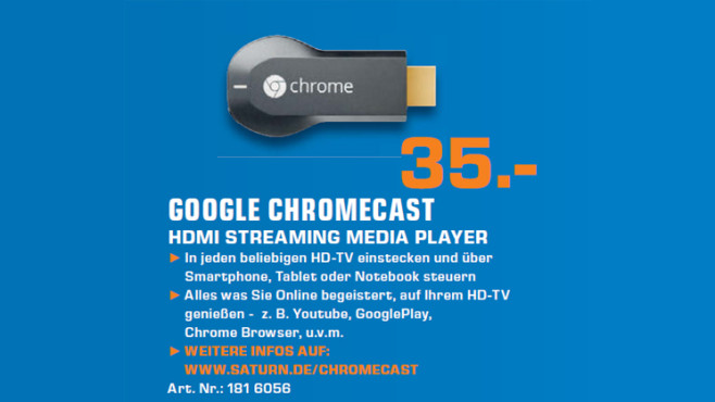 Google Chromecast © Saturn