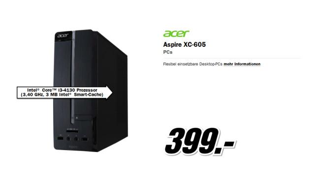 Acer Aspire XC605 (DT.STEEG.009) ©Media Markt