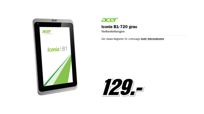 Iconia B1-720 grau ©Media Markt