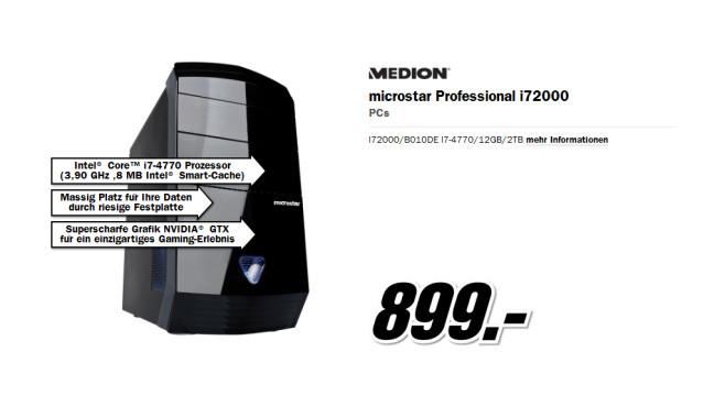 Medion Microstar Professional i72000 ©Media Markt