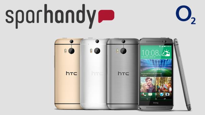 HTC One M8 jetzt mit Allnet-Flatrate zum Knallerpreis vorbestellen ©Sparhandy.de, HTC, O2
