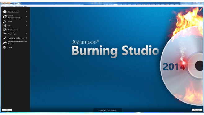 Ashampoo Burning Studio 2014 – Kostenlose Vollversion © COMPUTER BILD