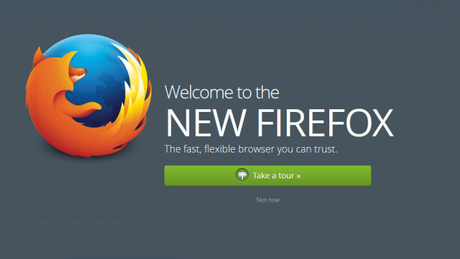 Firefox 29 Beta-Version © Firefox