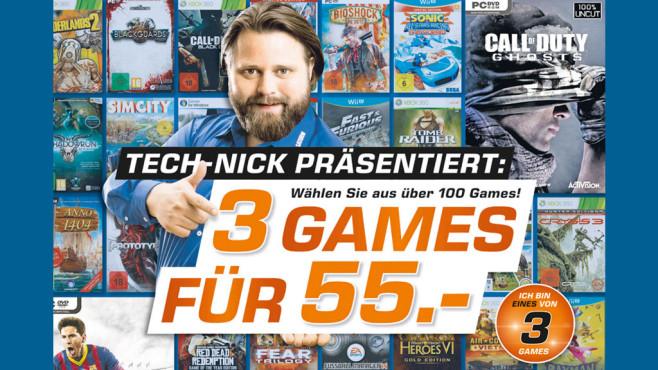 Drei Games für 55 Euro ©Saturn