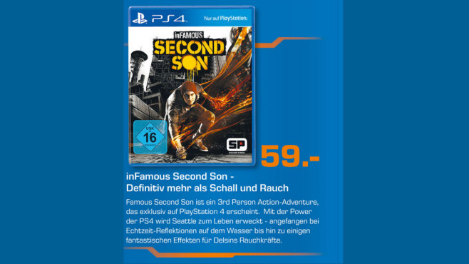 InFamous Second Son Adventure PlayStation 4 ©Saturn