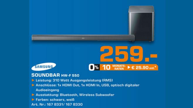 Samsung HW-F 550 ©Saturn