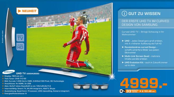 Samsung UE65HU8590 ©Saturn