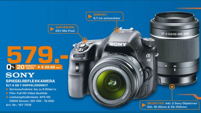 Sony Alpha 58 Kit 18-55 mm + 55-200 mm (SLT-A58Y) ©Saturn