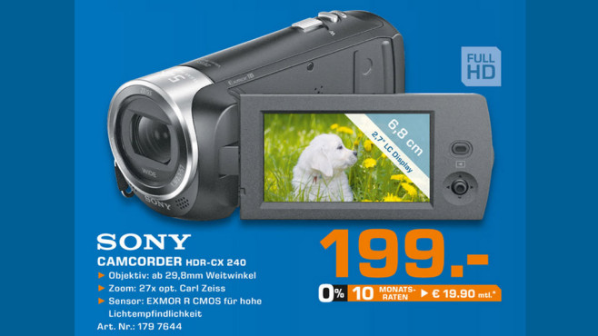 Sony HDR-CX240E © Saturn