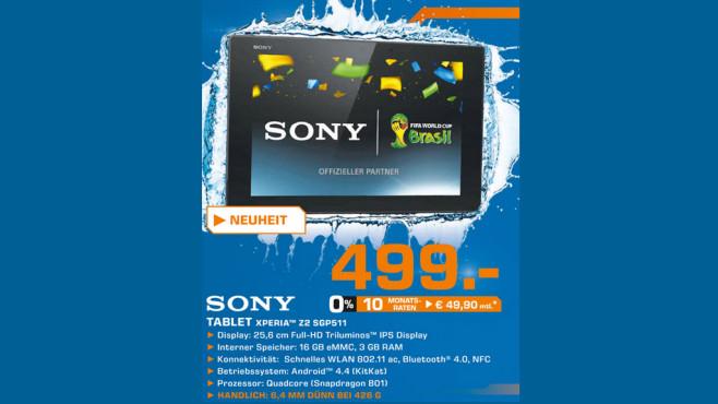 Sony Xperia Z2 Tablet ©Saturn
