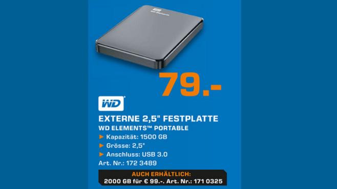 Western Digital Elements Portable 1.5TB ©Saturn