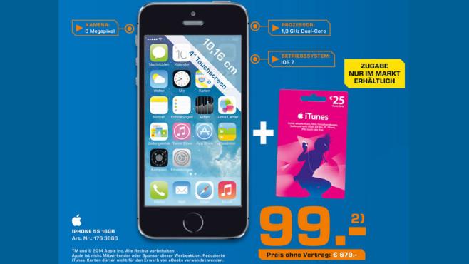 iPhone 5S 16GB + iTunes ©Saturn