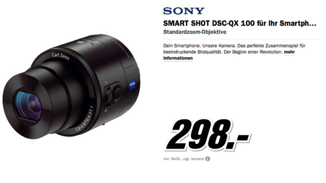 Sony Cyber-shot DSC-QX100 © Media Markt