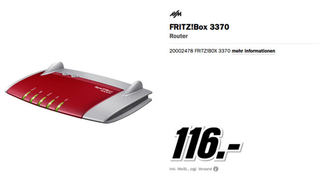 AVM Fritz!Box 3370 © Media Markt