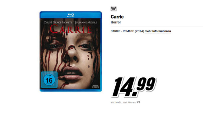 Carrie Blu-ray © Media Markt