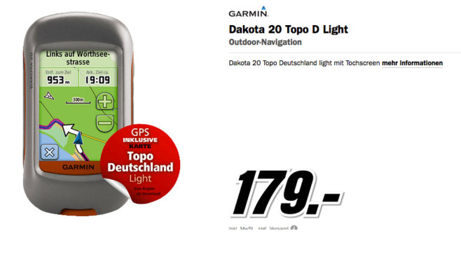 Garmin Dakota 20 © Media Markt