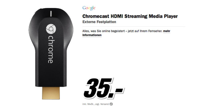 Google Chromecast © Media Markt