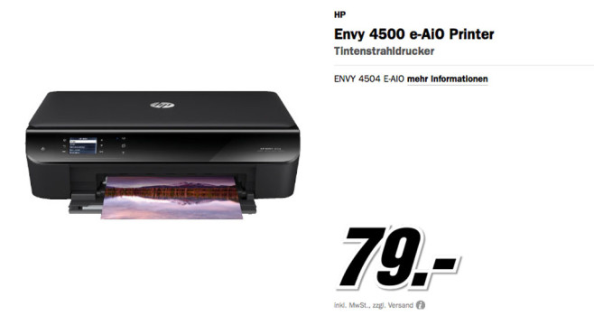 Hewlett-Packard HP Envy 4504 e-All-in-One (A9T88B) © Media Markt