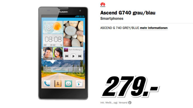 Huawei Ascend G740 © Media Markt