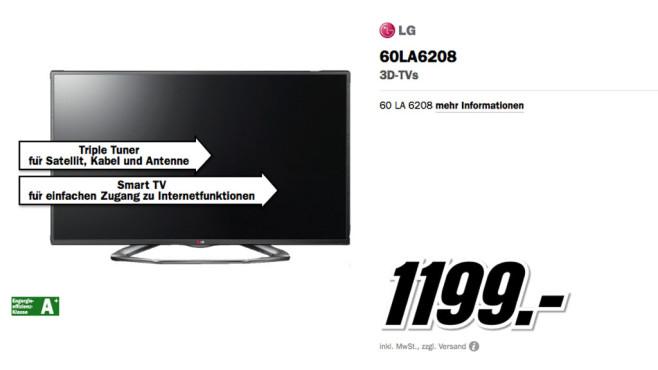 LG 60LA6208 ©Media Markt