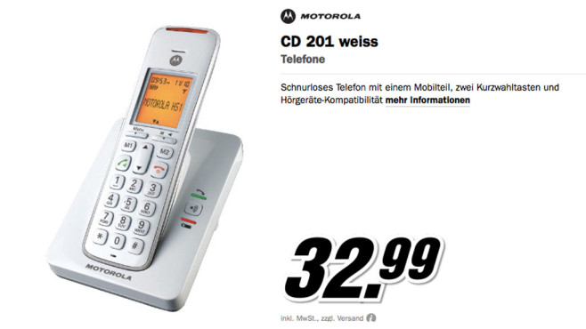 Motorola CD-201 © Media Markt