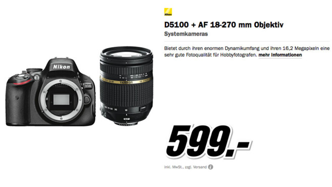 Nikon D5100 Kit 18-270 mm [Tamron] © Media Markt