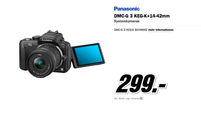 Panasonic Lumix DMC-G3 Kit © Media Markt