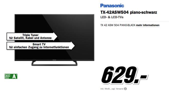 Panasonic TX-42ASW504 ©Media Markt