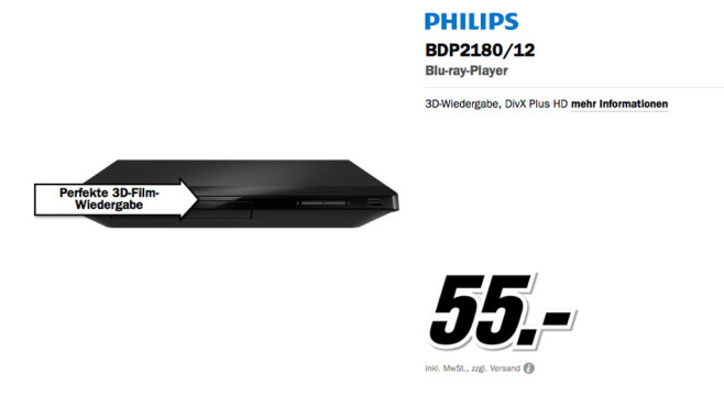 Philips BDP2180 © Media Markt