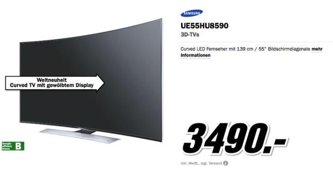 Samsung UE55HU8590 ©Media Markt