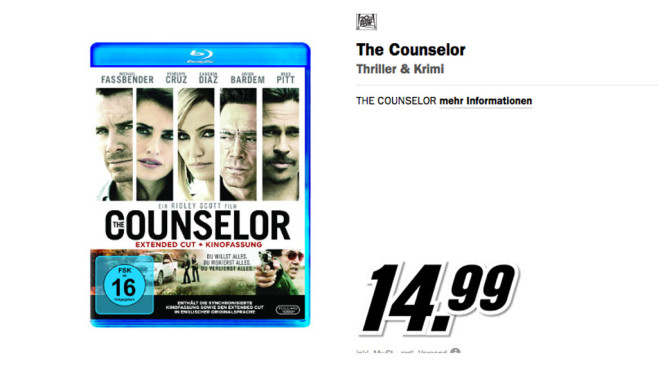 The Counselor DVD © Media Markt