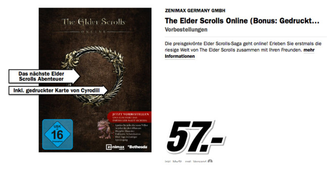 The Elder Scrolls © Media Markt