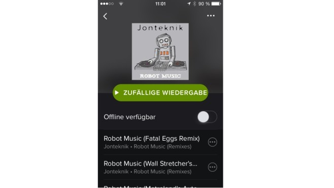 Spotify neues Design © Spotify