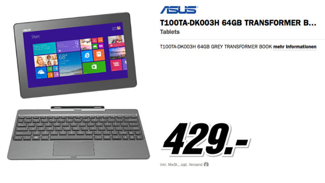 Asus T100TA-DK003H 64GB ©Media Markt