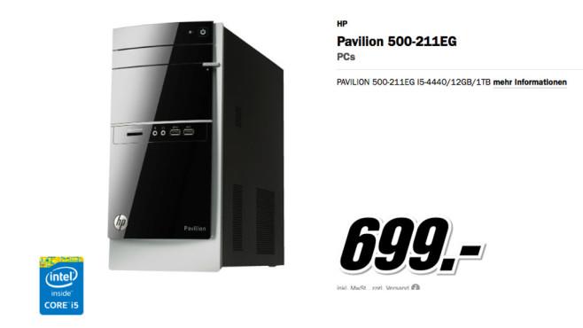 HP Pavilion 500-211EG ©Media Markt