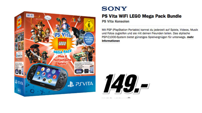 PS Vita WiFi Lego Mega Pack Bundle © Media Markt