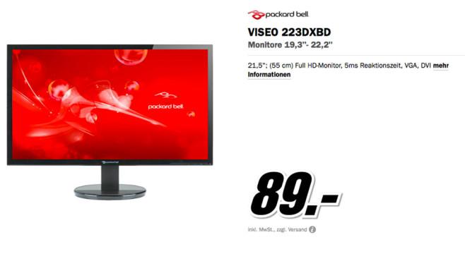 Packard Bell Viseo 223DXbd ©Media Markt
