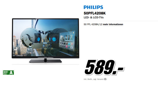 Philips 50PFL4208K © Media Markt