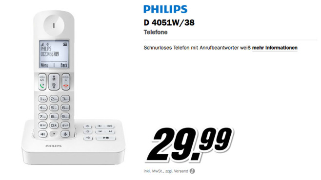 Philips D405 © Media Markt