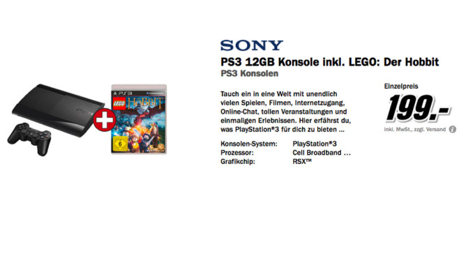 PlayStation 3 © Media Markt