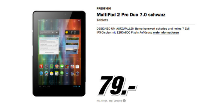 Prestigio MultiPad 2 Pro Duo 7.0 © Media Markt